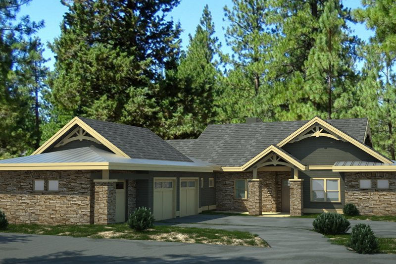 Traditional Style House Plan - 3 Beds 2.5 Baths 2711 Sq/Ft Plan #895-46 Exterior - Front Elevation