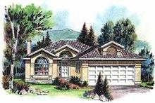 House Blueprint - Mediterranean Exterior - Front Elevation Plan #18-143
