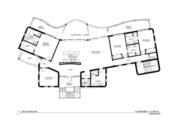 Contemporary Floor Plan - Main Floor Plan Plan #535-18