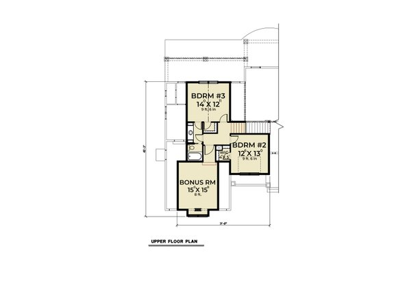 Dream House Plan - Craftsman Floor Plan - Upper Floor Plan #1070-58