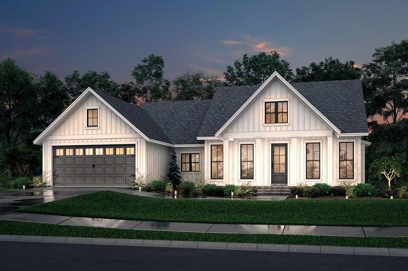 Dream House Plan - Farmhouse Exterior - Front Elevation Plan #430-221