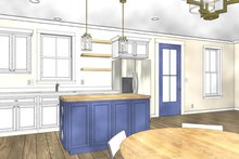 Cottage Interior - Kitchen Plan #44-229