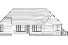 Home Plan - Traditional Exterior - Rear Elevation Plan #46-430