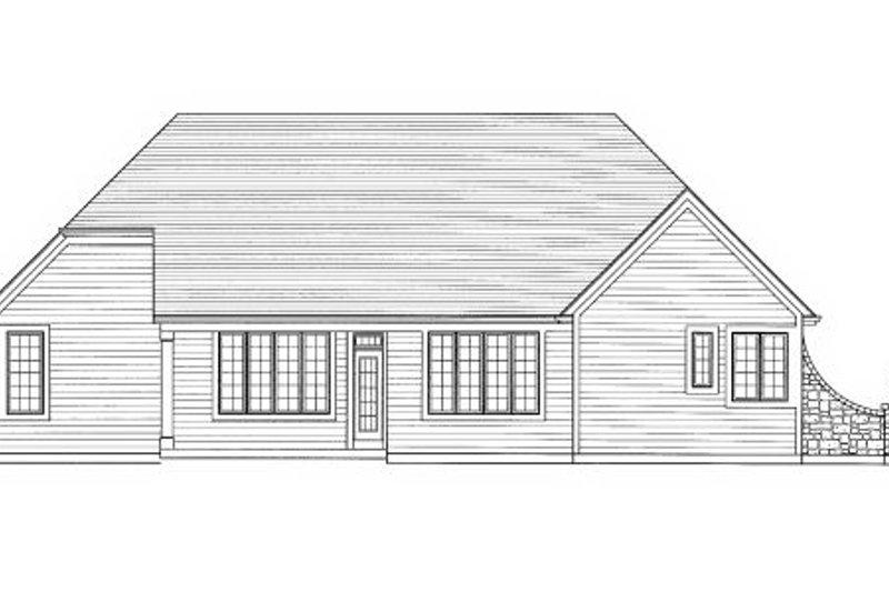 Traditional Exterior - Rear Elevation Plan #46-430 - Houseplans.com