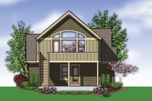 House Design - Craftsman Exterior - Rear Elevation Plan #48-573