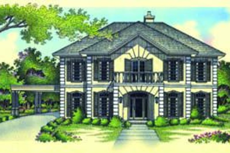 Dream House Plan - European Exterior - Front Elevation Plan #45-213