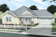 Cottage Style House Plan - 3 Beds 2 Baths 1271 Sq/Ft Plan #513-2044 Exterior - Front Elevation