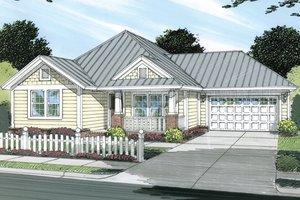 Cottage Exterior - Front Elevation Plan #513-2044
