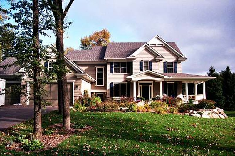 Country Exterior - Front Elevation Plan #51-358 - Houseplans.com