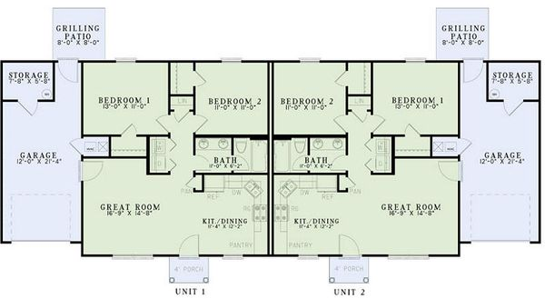 Ranch Floor Plan - Main Floor Plan Plan #17-2448