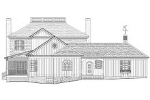 Home Plan - Colonial Exterior - Rear Elevation Plan #137-258