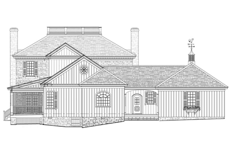 Colonial Exterior - Rear Elevation Plan #137-258 - Houseplans.com