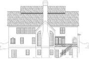 European Style House Plan - 4 Beds 3.5 Baths 3054 Sq/Ft Plan #119-157 Exterior - Rear Elevation