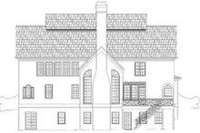 House Design - European Exterior - Rear Elevation Plan #119-157