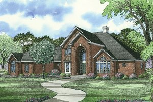 Traditional Exterior - Front Elevation Plan #17-2702