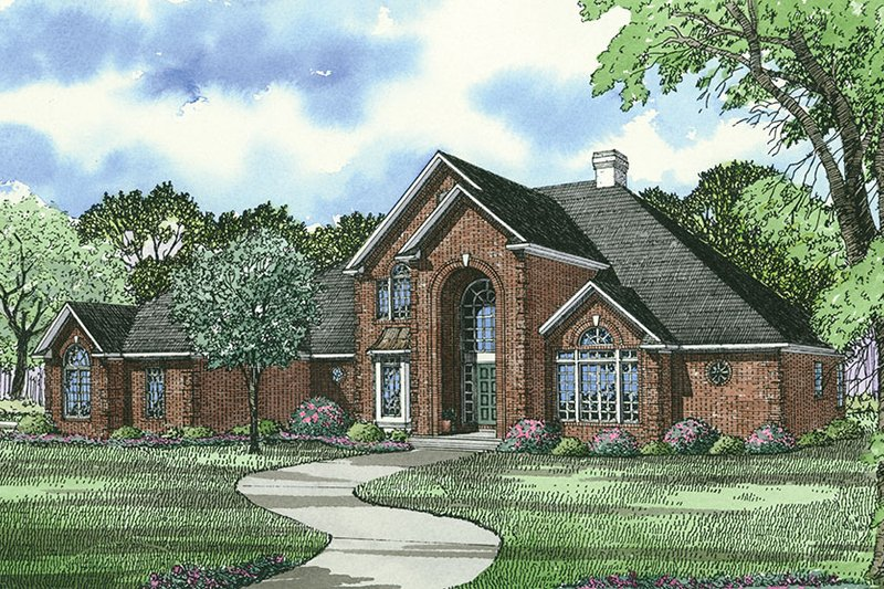 House Plan Design - Traditional Exterior - Front Elevation Plan #17-2702