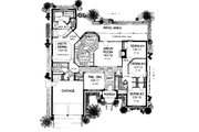 Colonial Style House Plan - 4 Beds 2.5 Baths 2280 Sq/Ft Plan #310-715 Floor Plan - Main Floor