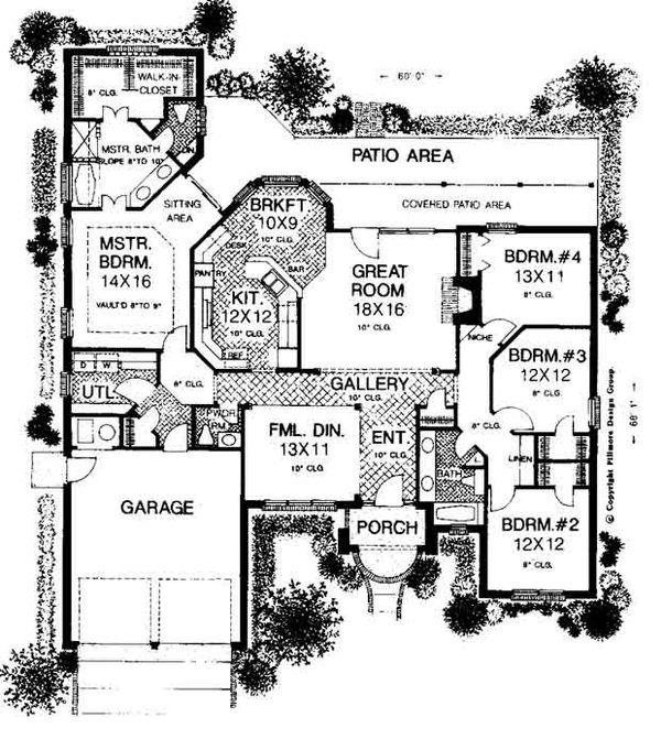 Colonial Floor Plan - Main Floor Plan #310-715