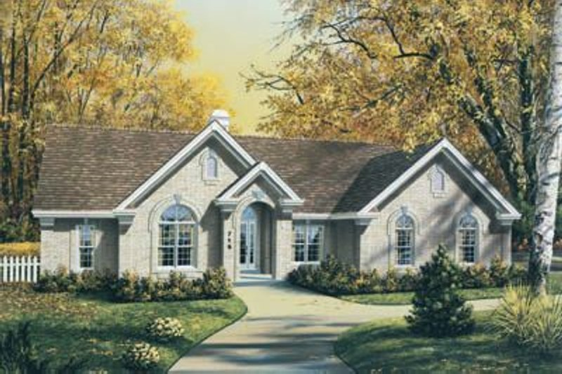 European Exterior - Front Elevation Plan #57-182 - Houseplans.com