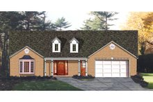 Country Exterior - Front Elevation Plan #3-266