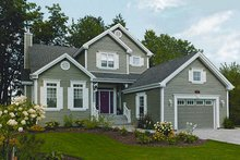 Dream House Plan - Farmhouse Exterior - Front Elevation Plan #23-722