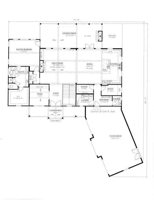 Architectural House Design - Craftsman Floor Plan - Main Floor Plan #437-103