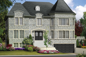 European Exterior - Front Elevation Plan #25-4614