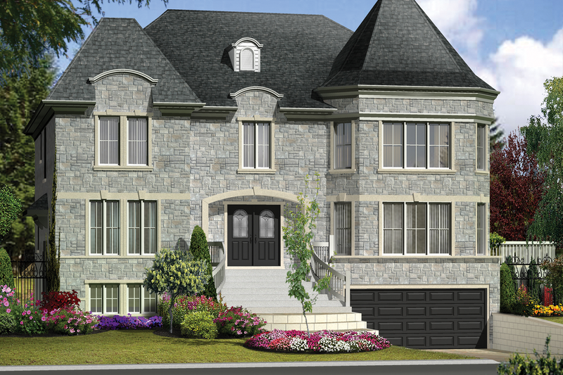 European Style House Plan - 7 Beds 4 Baths 5675 Sq/Ft Plan #25-4614 Exterior - Front Elevation