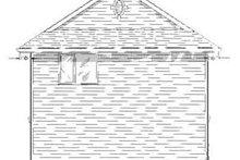Craftsman Exterior - Rear Elevation Plan #18-320