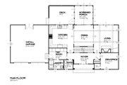 Traditional Style House Plan - 4 Beds 2.5 Baths 2483 Sq/Ft Plan #901-85 Floor Plan - Main Floor Plan