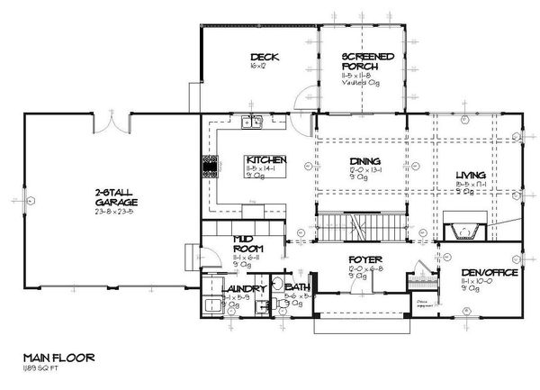 Traditional Floor Plan - Main Floor Plan Plan #901-85
