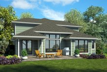 House Plan Design - Modern Exterior - Rear Elevation Plan #48-939