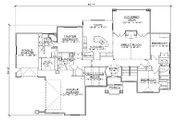 Traditional Style House Plan - 5 Beds 3.5 Baths 2247 Sq/Ft Plan #5-270 Floor Plan - Main Floor Plan