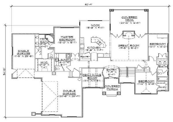 Traditional Floor Plan - Main Floor Plan Plan #5-270