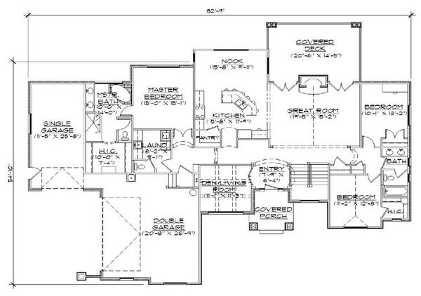 House Plan Design - Traditional Floor Plan - Main Floor Plan #5-270