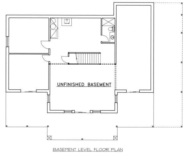 Log Floor Plan - Lower Floor Plan Plan #117-560