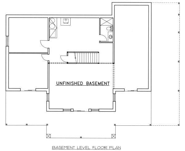 Dream House Plan - Log Floor Plan - Lower Floor Plan #117-560