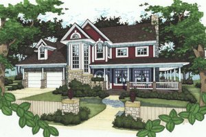 Country Exterior - Front Elevation Plan #120-148