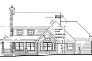 Country Style House Plan - 3 Beds 3 Baths 1882 Sq/Ft Plan #120-148 Exterior - Rear Elevation