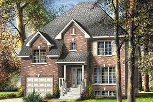 Traditional Exterior - Front Elevation Plan #25-4254