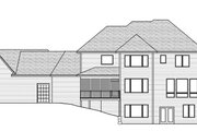 Craftsman Style House Plan - 5 Beds 4.5 Baths 4972 Sq/Ft Plan #51-576 Exterior - Rear Elevation