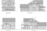 Farmhouse Style House Plan - 3 Beds 2.5 Baths 1647 Sq/Ft Plan #100-434 Exterior - Rear Elevation