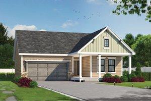House Blueprint - Farmhouse Exterior - Front Elevation Plan #20-2440