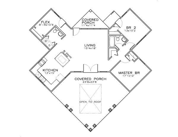 Southern Floor Plan - Main Floor Plan #8-308