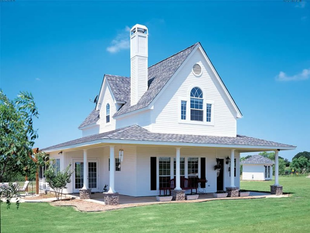 Farmhouse style house plan 3 beds 2 baths 1442 sq ft for Www eplans com