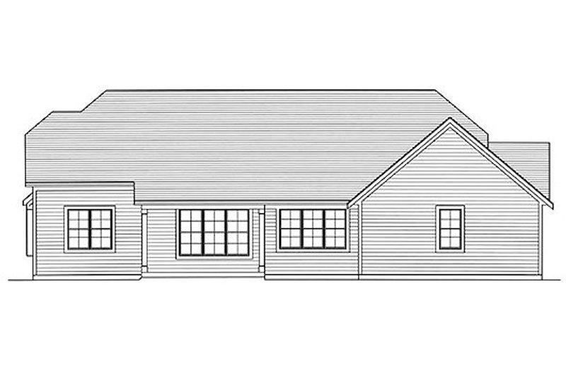 Bungalow Exterior - Rear Elevation Plan #46-479 - Houseplans.com