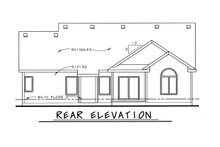 Architectural House Design - Traditional Exterior - Rear Elevation Plan #20-1666