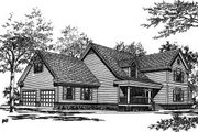 Traditional Style House Plan - 4 Beds 3.5 Baths 2739 Sq/Ft Plan #37-198 Exterior - Front Elevation