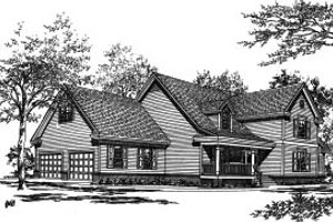 Traditional Exterior - Front Elevation Plan #37-198