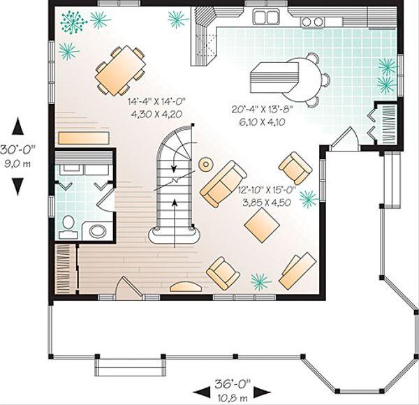 Victorian Floor Plan - Main Floor Plan Plan #23-2178